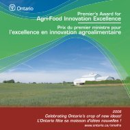 Brochure régionale de Elmwood - Ontario Ministry of Agriculture ...