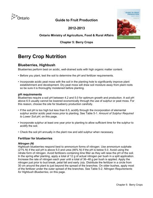 PDF 315 kb - Ontario Ministry of Agriculture, Food and Rural