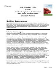 Chapitre 7 - Pommes - PDF 436 kb - Ontario Ministry of Agriculture ...