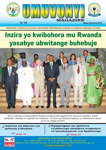 Umuvunyi Magazine No.19 - Office of the Ombudsman