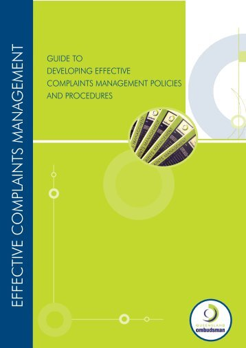 Guide to Developing Effective Complaints Management Policies and ...