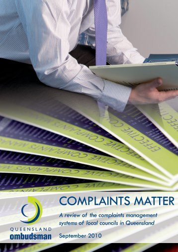 Report of the Queensland Ombudsman Complaints matter