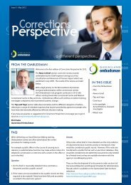 Corrections Perspective - Issue 5 - Queensland Ombudsman