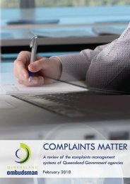 COMPLAINTS MATTER - Queensland Ombudsman - Queensland ...