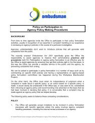 draft policy on participation in agency policy making procedures