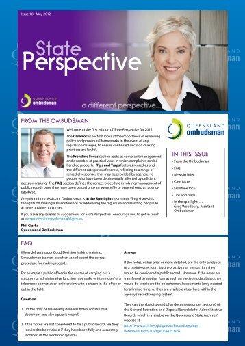 Issue 18 - Queensland Ombudsman