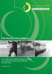 The Hendra Virus Report: An investigation - Queensland ...