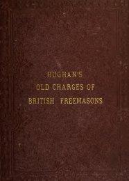 The old charges of British Freemasons - Onondaga and Oswego ...
