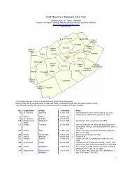Craft Masonry in Delaware County.pdf - Onondaga and Oswego ...