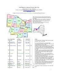 Craft Masonry in Monroe County, New York - Onondaga and ...