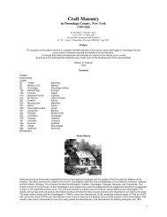 Craft Masonry - Onondaga and Oswego Masonic District Historical ...