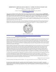American Union Lodge No. 1 - Onondaga and Oswego Masonic ...