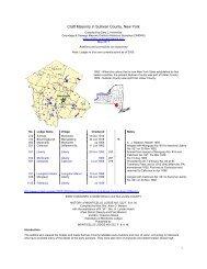 Craft Masonry in Sullivan County, New York - Onondaga and ...
