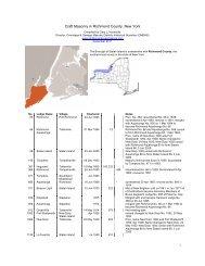 Craft Masonry in Richmond County, New York - Onondaga and ...