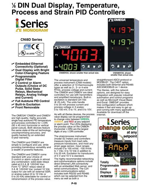 """1â """"8 DIN Dual Display, Temperature, Process and Strain PID"""