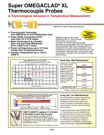 how to read thermocouple reference table