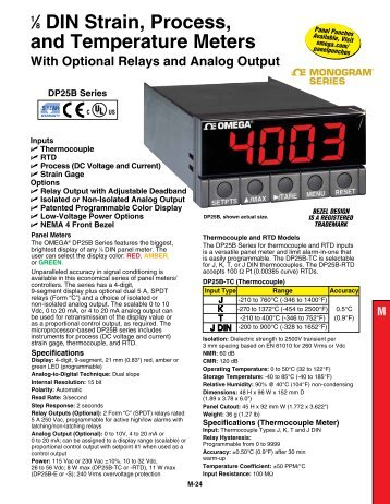 1⁄8 din strain, process, and temperature meters with optional relays ...