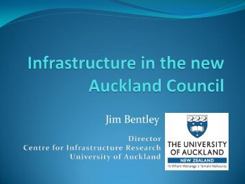 Why is Auckland's infrastructure under stress? - OMEGA Centre