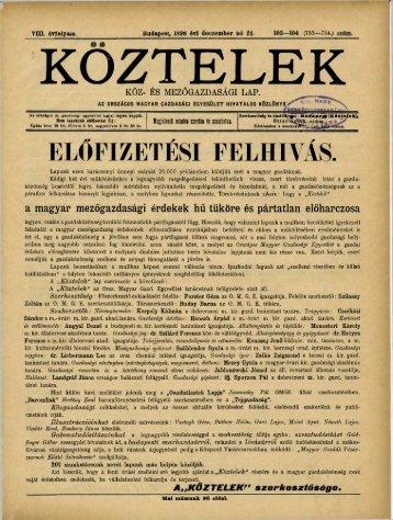 103—104. - Országos Mezőgazdasági Könyvtár