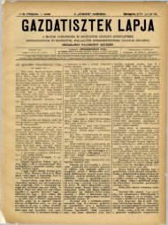 GAZDATISZTEK LAPJA - Országos Mezőgazdasági Könyvtár