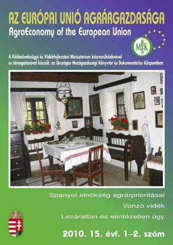 1–2. - Országos Mezőgazdasági Könyvtár