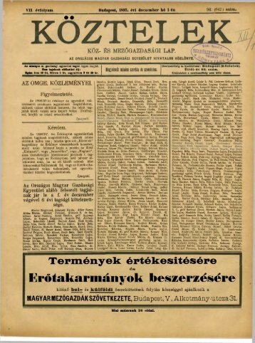 96. - Országos Mezőgazdasági Könyvtár