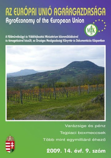 az európai unió agrárgazdasága - Országos Mezőgazdasági Könyvtár