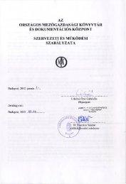 2.1.2 Szervezeti és működési szabályzat - Országos ...