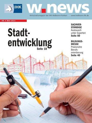 Stadtentwicklung | w.news 05.2014