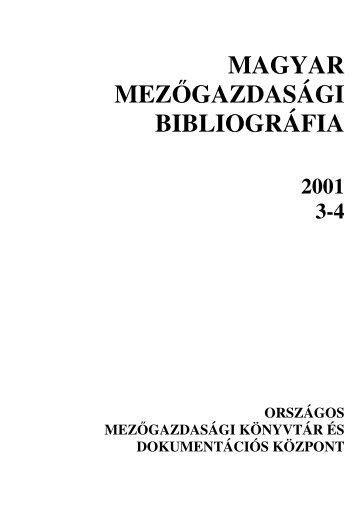 3-4 - Országos Mezőgazdasági Könyvtár