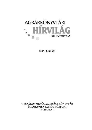 2005/1 - Országos Mezőgazdasági Könyvtár