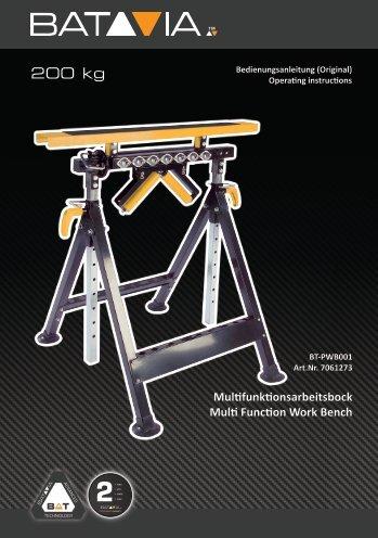 Manual Multifunctional Work Bench