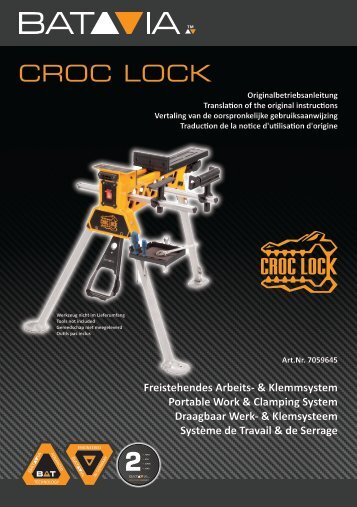 Manual CROC LOCK - Portable work- and clamping System