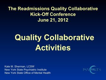Quality Collaborative Activities - New York State Office of Mental ...