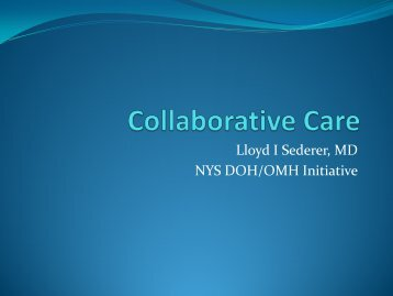 Collaborative Care - Office of Mental Health