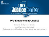 Justice Center Pre-Employment Checks - New York State Office of ...