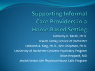 Supporting Informal Care Providers in a Home Based Setting