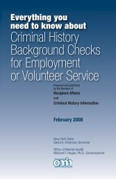 Criminal History Background Check - New York State Office of ...