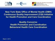 Quality Concerns Slides - Office of Mental Health - New York State