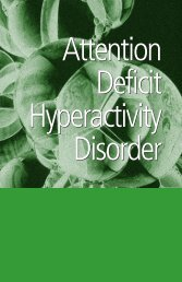 Attention Deficit Hyperactivity Disorder - Office of Mental Health ...
