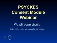 PSYCKES Consent Module Webinar - Office of Mental Health - New ...
