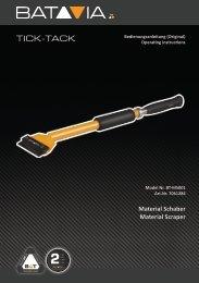 Manual TICK-TACK® Material-Scraper
