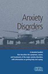 Anxiety Disorders - New York State Office of Mental Health