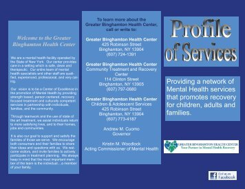 Profile of Service - Office of Mental Health