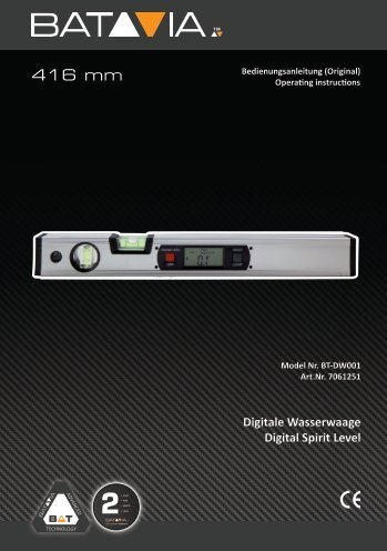 Manual Digital Spirit Level - 416mm with Backlight