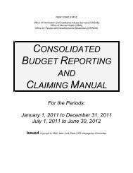 CONSOLIDATED BUDGET REPORTING AND CLAIMING MANUAL