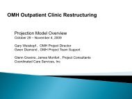 OMH Outpatient Clinic Restructuring