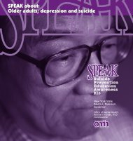 SPEAK about: Older adults - New York State Office of Mental Health