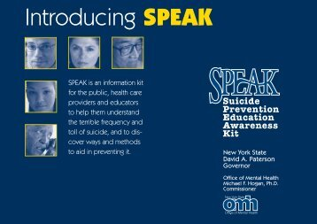 Introducing SPEAK - New York State Office of Mental Health