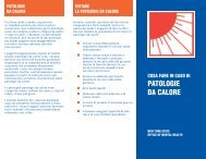 PATOLOGIE DA CALORE - New York State Office of Mental Health